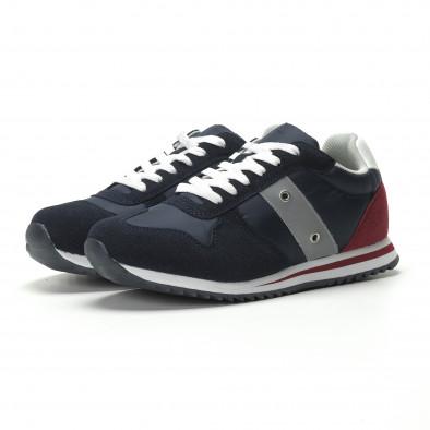 Ανδρικά μπλε αθλητικά παπούτσια κλασικό μοντέλο it250119-5 3
