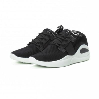 Ανδρικά μαύρα αθλητικά παπούτσια FM it150818-9 3