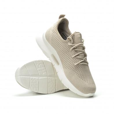 Ανδρικά μπεζ αθλητικά παπούτσια Hole design ελαφρύ μοντέλο it250119-23 4