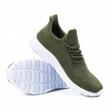 Ανδρικά πράσινα αθλητικά παπούτσια ελαφρύ μοντέλο it140918-17 4