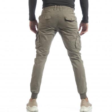 Ανδρικό μπεζ Cargo Jogger παντελόνι it040219-29 4