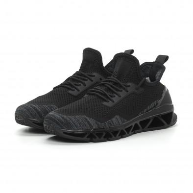 Ανδρικά μαύρα αθλητικά παπούτσια Knife ελαφρύ μοντέλο it150319-26 3