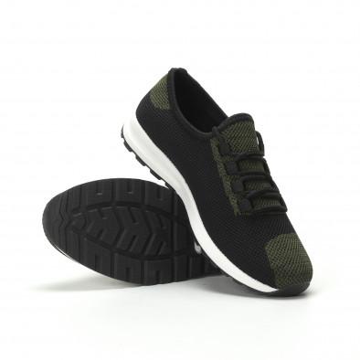 Ανδρικά πράσινα μελάνζ αθλητικά παπούτσια ελαφρύ μοντέλο it250119-13 4