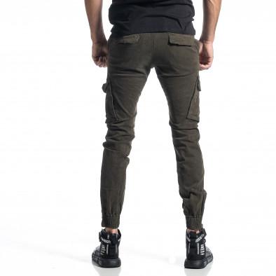 Ανδρικό πράσινο παντελόνι cargo Jogger it010221-45 3