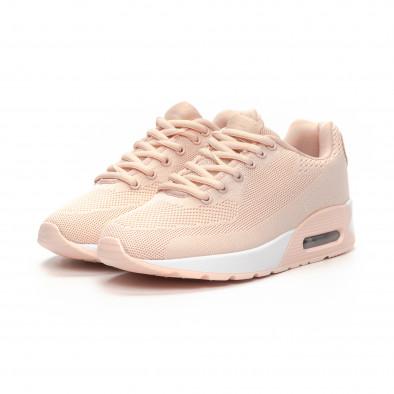 Γυναικεία ροζ αθλητικά παπούτσια με αερόσολα it240419-33 3