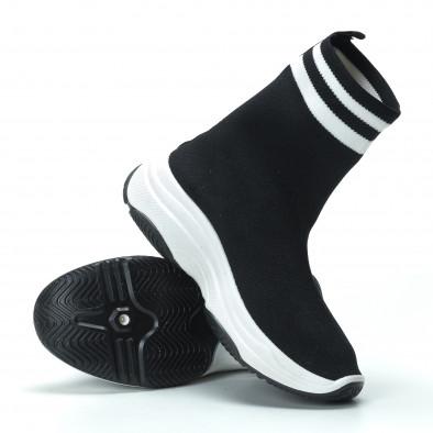 Γυναικεία μαύρα ψηλά sneakers καλτσάκι it250119-61 5