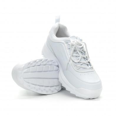 Ανδρικά λευκά αθλητικά παπούτσια Ckunky it150319-7 4