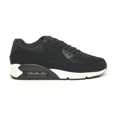 Ανδρικά μαύρα αθλητικά παπούτσια με αερόσολα it251019-8 3