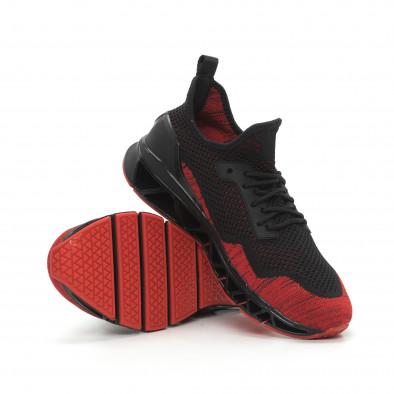 Ανδρικά κόκκινα αθλητικά παπούτσια Knife ελαφρύ μοντέλο it150319-25 5