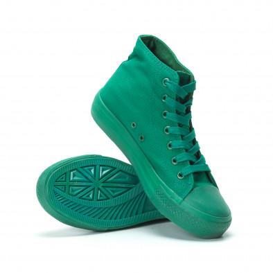Γυναικεία πράσινα ψηλά sneakers it250119-77 4