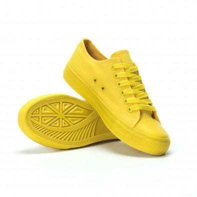 Γυναικεία κίτρινα sneakers  it250119-73 4