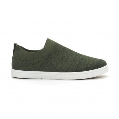 Ανδρικά πράσινα μελάνζ sneakers κάλτσα it150319-16 2