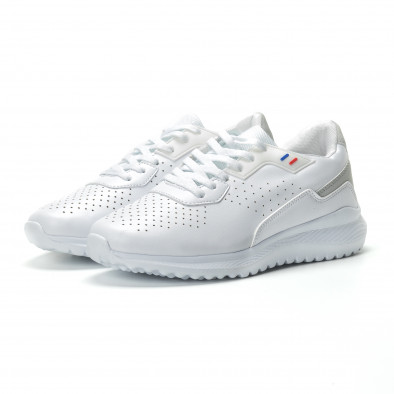 Ανδρικά λευκά αθλητικά παπούτσια ελαφρύ μοντέλο it250119-16 3