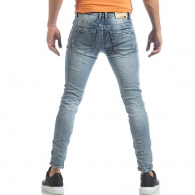 Ανδρικό γαλάζιο Washed Slim Jeans τζιν it040219-13 4