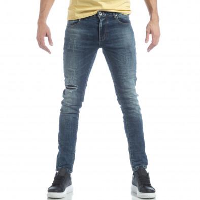 Ανδρικό μπλε τζιν Washed Jeans it040219-10 2
