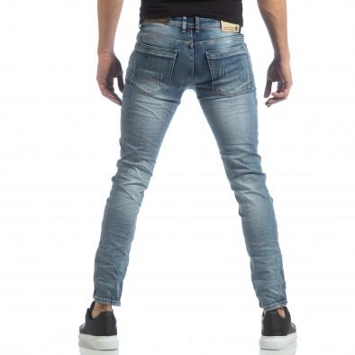 Ανδρικό γαλάζιο τζιν Slim fit it040219-11 3