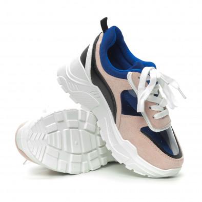Γυναικεία ροζ αθλητικά παπούτσια με διαφάνειες it150319-63 4