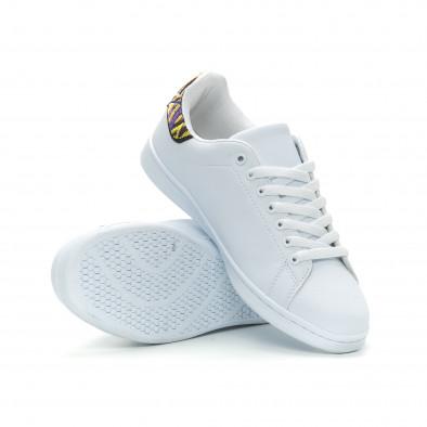 Ανδρικά λευκά sneakers με λεπτομέρεια κέντημα it150319-6 4