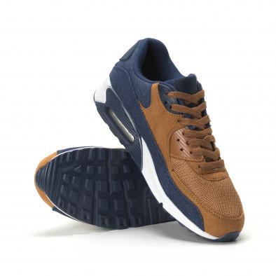 Ανδρικά αθλητικά παπούτσια Air camel και ντένιμ it250119-26 4