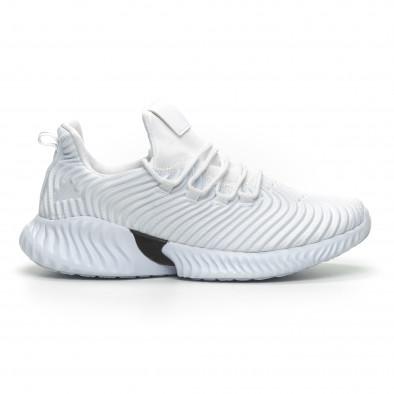 Ανδρικά λευκά αθλητικά παπούτσια Wave ελαφρύ μοντέλο it100519-3 2