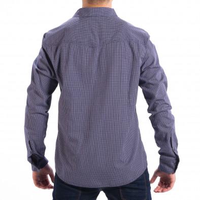 Ανδρικό γαλάζιο καρέ πουκάμισο Slim fit CROPP lp070818-132 3