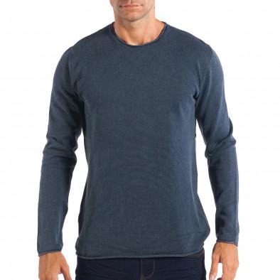 869fccb33f24 Ανδρική μπλε πλεκτή μπλούζα RESERVED lp070818-53 - Fashionmix.gr