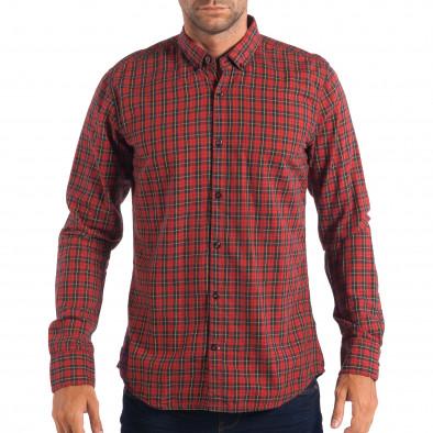 Ανδρικό κόκκινο πουκάμισο CROPP lp070818-107 2