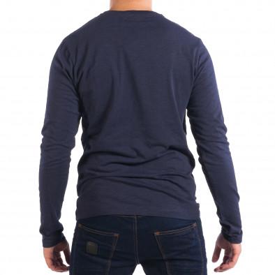 Ανδρική μπλε μπλούζα με τσέπη lp070818-46 3
