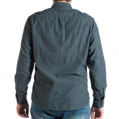 Ανδρικό γαλάζιο πουκάμισο RESERVED lp290918-175 3