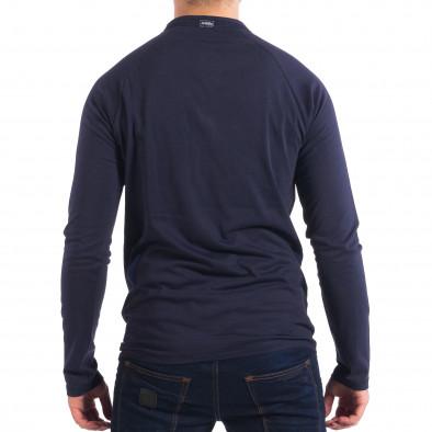 Ανδρική μπλε μπλούζα με κουμπιά RESERVED lp070818-42 3