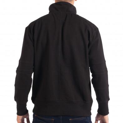 Ανδρικό μαύρο φούτερ με τσέπη καγκουρό RESERVED lp080818-105 3