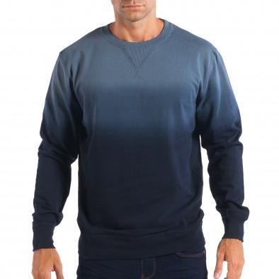 2e954311c3c9 Ανδρική μπλε όμπρε μπλούζα House lp080818-98 - Fashionmix.gr