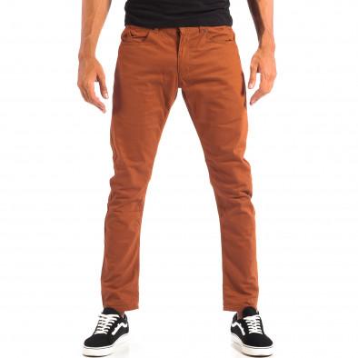Ανδρικό λεπτό παντελόνι σε χρώμα camel CROPP lp060818-109 2