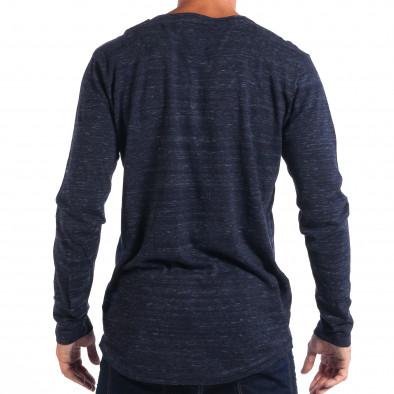 Ανδρικό μπλε πουλόβερ με κομπιά V-neck House lp070818-67 3