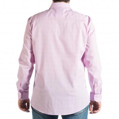 Ανδρικό μωβ πουκάμισο lp290918-173 3