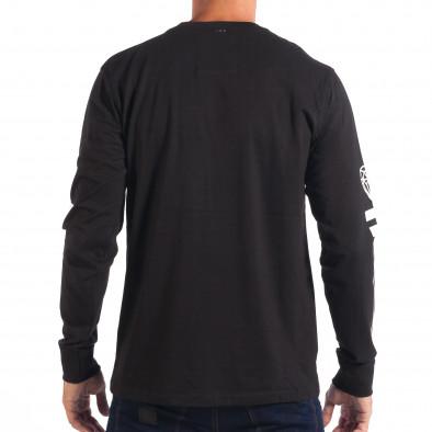 Ανδρική μαύρη μπλούζα House Uptown lp070818-16 3