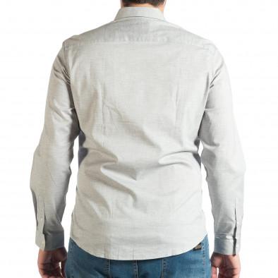 Ανδρικό γκρι πουκάμισο RESERVED lp290918-185 3