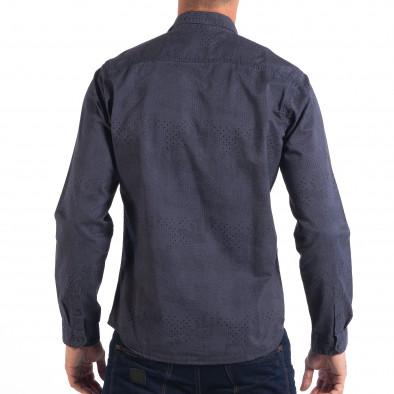 Ανδρικό μπλε Regular πουκάμισο lp070818-113 3