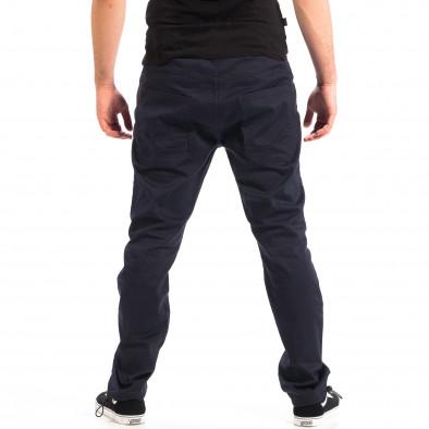 Ανδρικό μπλε παντελόνι με λάστιχο στις άκρες CROPP lp060818-125 3