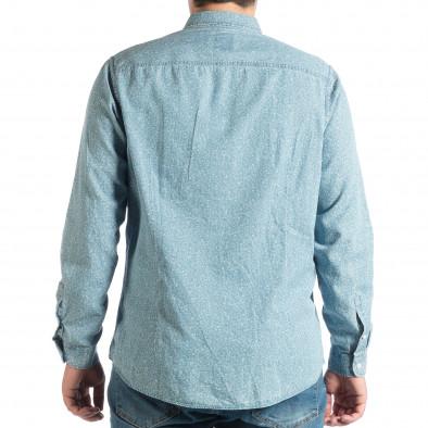 Ανδρικό γαλάζιο πουκάμισο lp290918-178 3