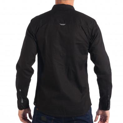 Ανδρικό μαύρο πουκάμισο CROPP lp070818-119 3