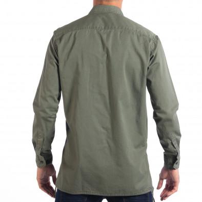 Ανδρικό πράσινο Military πουκάμισο μοντέλο Large RESERVED lp070818-154 3