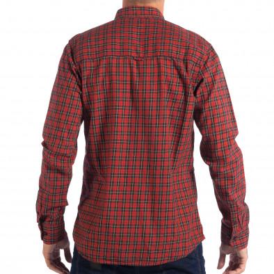 Ανδρικό κόκκινο πουκάμισο CROPP lp070818-107 3