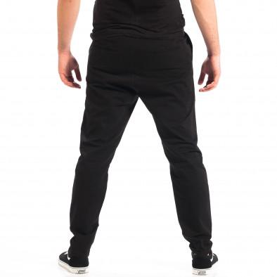 Ανδρικό μαύρο Cropped chino παντελόνι RESERVED lp060818-121 3