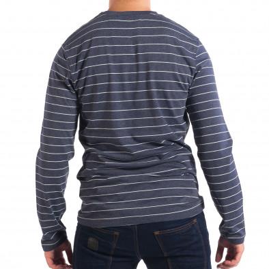 Ανδρική μπλε ριγέ μπλούζα RESERVED lp070818-44 3