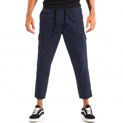 Ανδρικό μπλε Cropped Cargo παντελόνι RESERVED lp060818-118 2