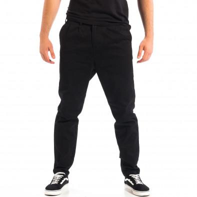 Ανδρικό μαύρο Cropped chino παντελόνι RESERVED lp060818-121 2