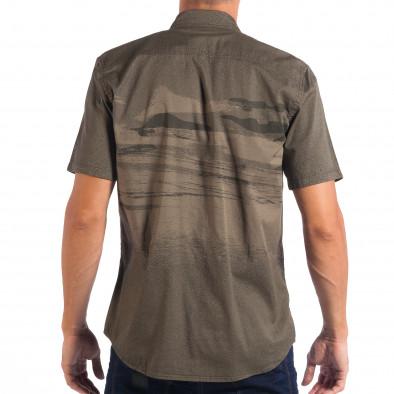 Ανδρικό πράσινο κοντομάνικο πουκάμισο RESERVED lp070818-122 3