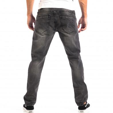 Ανδρικό μαύρο τζιν Regular fit με ξεθωριασμένο εφέ House lp060818-55 3