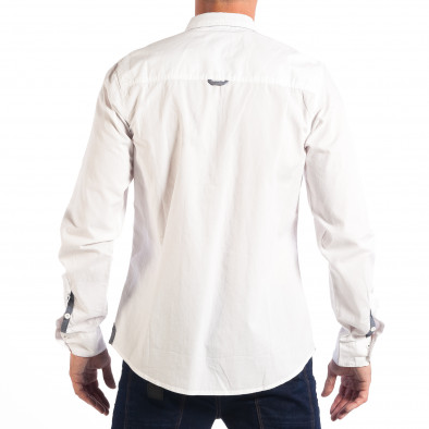 Ανδρικό λευκό πουκάμισο CROPP lp070818-104 3